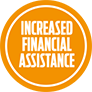 Increased financial assistance